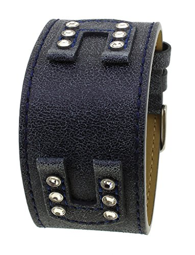 Bruno Banani Unterlagenband Uhrenarmband | Leder blau für XT Evolution Square Ladies XS3 | 33247