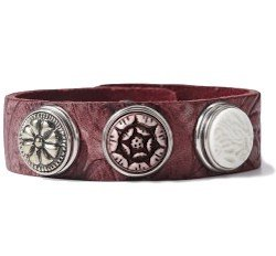 Armband Wrap Bracelet Classic Skinny embossed wine red